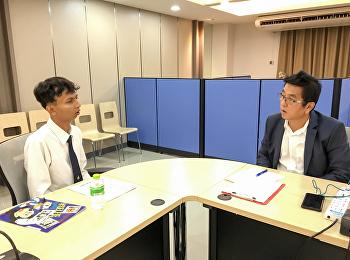 วันที่ 11 พฤษภาคม 2562 ภาพบรรยากาศการสอบสัมภาษณ์นักศึกษา หลักสูตรบริหารธุรกิจมหาบัณฑิต สาขาการจัดการฟุตบอลอาชีพ รุ่นที่ 8 ปีการศึกษา 1/2562 ณ ห้องประชุมชั้น 2 อาคาร ตึกสมาคมศิษย์เก่า สวนสุนันทา ในพระบรมราชินูปถัมภ์