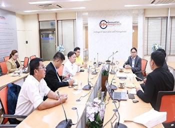 วันที่ 3 กรกฎาคม 2562 หลัหสูตรบริหารธุรกิจมหาบัณฑิต สาขาวิชาการจัดการฟุตบอลอาชีพ วิทยาลัยนวัตกรรมและการจัดการ มหาวิทยาลียราชภัฏสวนสุนันทา ร่วมประชุมแนวทางความร่วมมือกับบริษัท หัวเว่ย เทคโนโลยี (ประเทศไทย) จำกัด