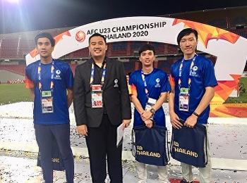 หลักสูตรบริหารธุรกิจมหาบัณฑิต สาขาวิชาการจัดการฟุตบอลอาชีพ ส่งนักศึกษาเข้าร่วมโครงการการจัดการแข่งขัน AFC U-23 ช้างศึกอาสา